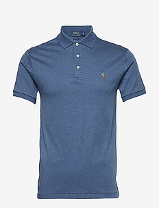 Slim Fit Soft-Touch Polo Shirt - DERBY BLUE HEATHE