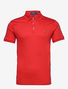 Slim Fit Interlock Polo Shirt - RL 2000 RED