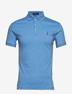 Slim Fit Interlock Polo Shirt - krótki rękaw - soft royal heathe