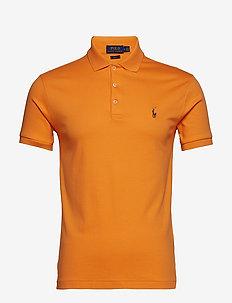 Slim Fit Soft-Touch Polo Shirt - THAI ORANGE