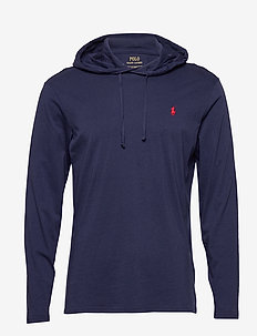 Cotton Jersey Hooded T-Shirt - hoodies - newport navy