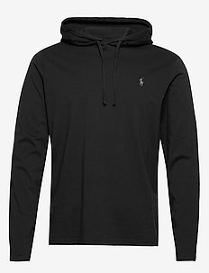 Cotton Jersey Hooded T-Shirt - hoodies - polo black