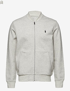 Double-Knit Bomber Jacket - LT SPORT HEATHER