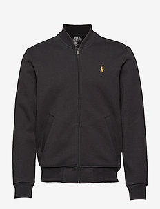 Double-Knit Bomber Jacket - POLO BLACK/GOLD P