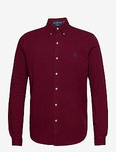 Featherweight Mesh Shirt - oxford shirts - classic wine/c799