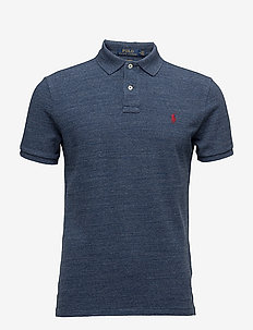 Custom Slim Fit Cotton Mesh Polo - kortermede - classic royal hea