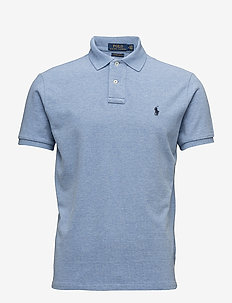Custom Slim Fit Cotton Mesh Polo - kortermede - jamaica heather