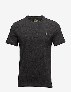 Custom Slim Fit Cotton T-Shirt - BLACK MARL HEATHE