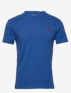 Custom Slim Crewneck T-Shirt - korte mouwen - dockside blue hea