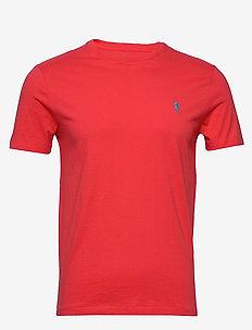 Custom Slim Crewneck T-Shirt - racing red/c6934