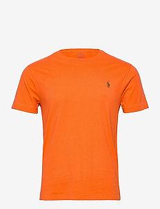 Custom Slim Crewneck T-Shirt - t-shirts - southern orange/c