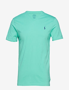 Custom Slim Cotton T-Shirt - SUNSET GREEN