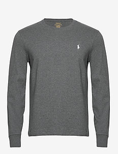 Custom Slim Fit T-Shirt - langermede t-skjorter - fortress grey hea
