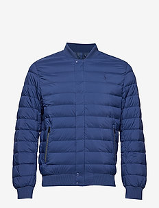 Packable Down Baseball Jacket - ANNAPOLIS BLUE