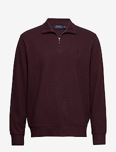 Double-Knit Half-Zip Pullover - AGED WINE HEATHER