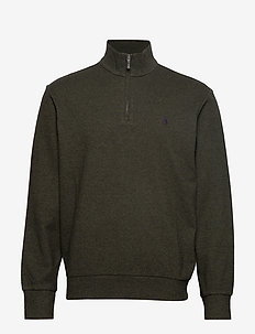 Double-Knit Half-Zip Pullover - LIMERICK GREEN HE