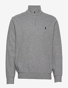 Double-Knit Half-Zip Pullover - half zip jumpers - medium flannel he