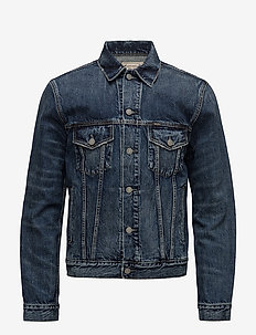 Faded Denim Trucker Jacket - jeansjacken - trenton