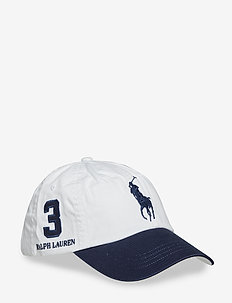 Cotton Chino Baseball Cap - WHITE/NEWPORT NAV