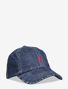 Denim Baseball Cap - kepsar - dark wash denim w