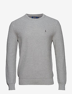 Cotton Crewneck Sweater - basic-strickmode - andover heather