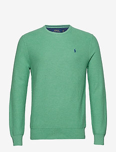 Cotton Crewneck Sweater - PALE EMERALD HEAT
