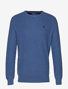 Cotton Crewneck Sweater - ROYAL HEATHER
