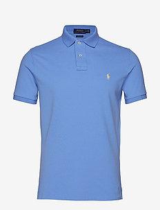 Custom Slim Fit Mesh Polo - CABANA BLUE