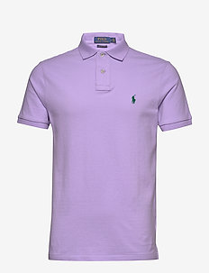 Custom Slim Fit Mesh Polo - ENGLISH LAVENDER/