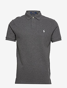 Custom Slim Fit Mesh Polo - kurzärmelig - fortress grey hea