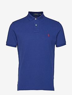 Custom Slim Fit Mesh Polo - HOLIDAY SAPPHIRE