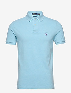 Custom Slim Fit Mesh Polo - short-sleeved polos - watchhill blue he