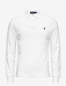Custom Slim Fit Mesh Polo - langermede - white
