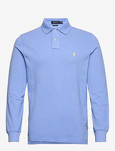 Custom Slim Fit Mesh Polo - langermede - cabana blue