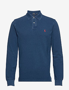 Custom Slim Fit Mesh Polo - pitkähihaiset - medium indigo/c38