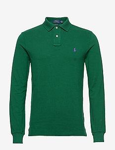 Custom Slim Fit Mesh Polo - długi rękaw - new forest/c4649