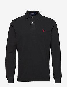 Custom Slim Fit Mesh Polo - polos à manches longues - polo black/c3870