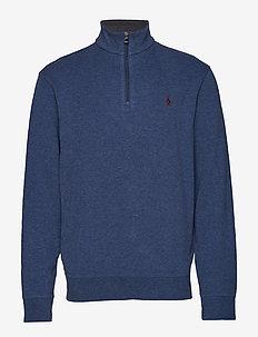 Jersey Half-Zip Pullover - DERBY BLUE HEATHE