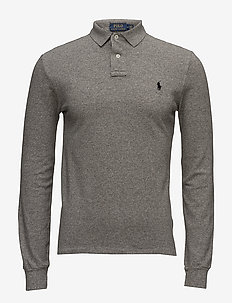 Slim Fit Mesh Long-Sleeve Polo - langermede - canterbury heathe