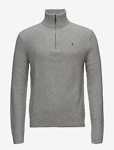 Tussah Silk Half-Zip Sweater - ANDOVER GREY HEATHER