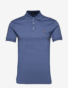 Slim Fit Soft-Touch Polo Shirt - FADED ROYAL HEATH