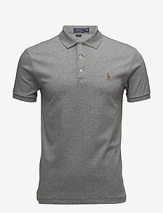 Slim Fit Soft-Touch Polo Shirt - krótki rękaw - steel heather