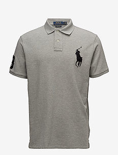 Custom Slim Fit Mesh Polo - short-sleeved polos - andover heather