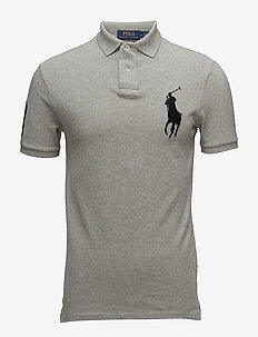 Slim-Fit Mesh Polo Shirt - ANDOVER HEATHER