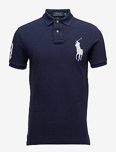 Slim-Fit Mesh Polo Shirt - NEWPORT NAVY