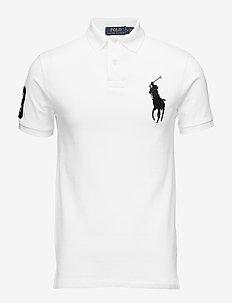 Slim-Fit Mesh Polo Shirt - WHITE