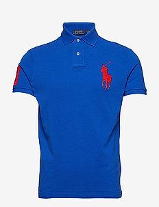 Custom Slim Fit Mesh Polo - BLUE SATURN