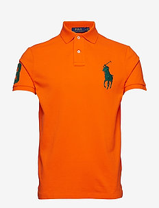 Custom Slim Fit Mesh Polo - SAILING ORANGE