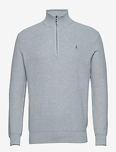 Cotton Half-Zip Sweater - ANDOVER HEATHER