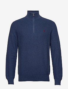 Cotton Half-Zip Sweater - half zip-trøjer - rustic navy heath